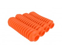 4 Pack Fluorescent Orange Rukse RK9113 Poly-vinyl Shock Boots
